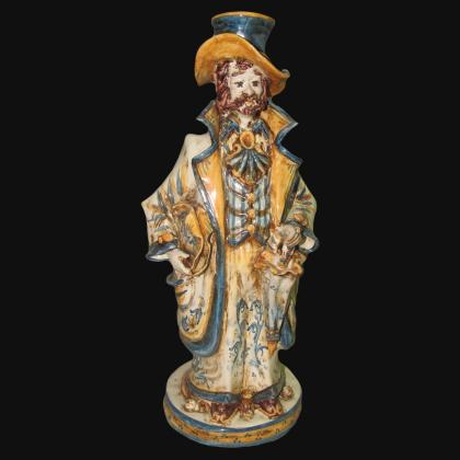 Lumiera piccola uomo h 31 blu/arancio - Modellato a Mano