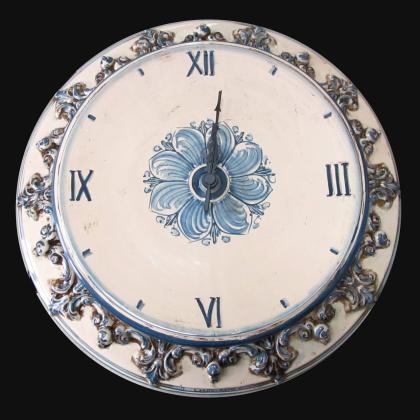 Orologio Ø 38 plastico sofia mono blu - Ceramiche di Caltagirone Sofia