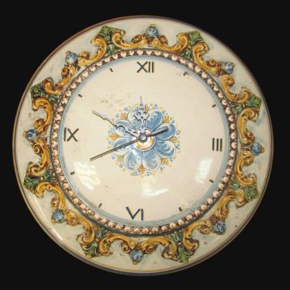 Orologio Ø 38 plastico sofia tricolore - Ceramiche di Caltagirone Sofia