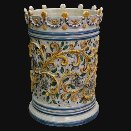 Porta Ombrello Riproduzione dell'antica Maiolica di Caltagirone