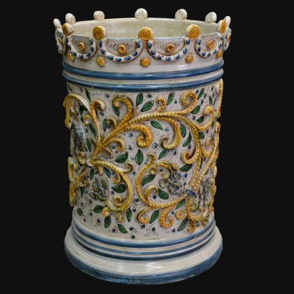Umbrella stand h 50 handmade products. Artistic ceramics of Caltagirone