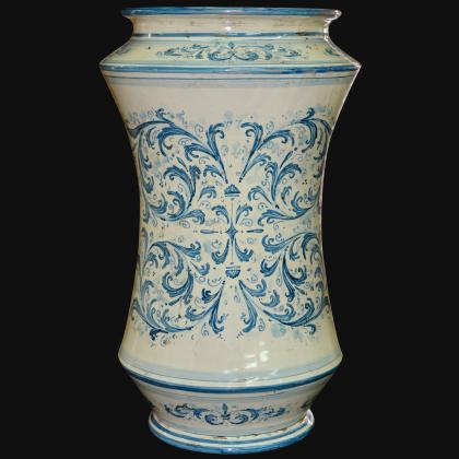 Portaombrelli ad albarello h 50 in serie d'arte mono blu