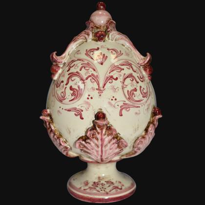 Sofia egg h 25 plastic Sofia Mono Bordeaux - Caltagirone ceramics