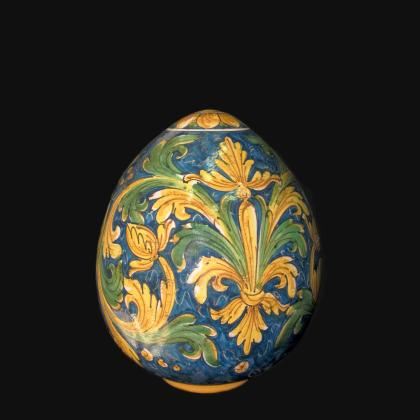 Sofia egg h 20 ornate Calatino - Caltagirone ceramics