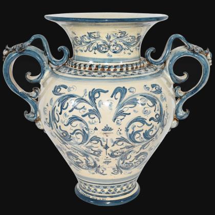 Vaso anfora h 40 s. d'arte mono blu - Ceramica di Caltagirone Sofia