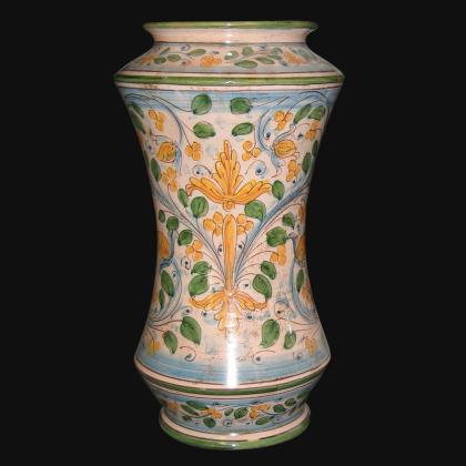 Vaso albarello antico fogliame h 25/30 - Ceramiche di Caltagirone Sofia