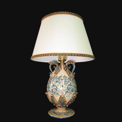 Ornamental light in ceramics of Caltagirone - Artistic ceramics Sofia