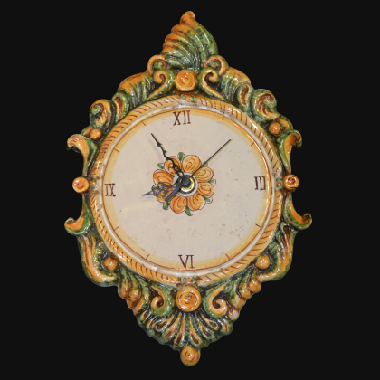Ceramic clock handmade products. Artistic ceramics of Caltagirone