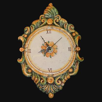 Orologio a rilievo 2°M h 40 verde e arancio