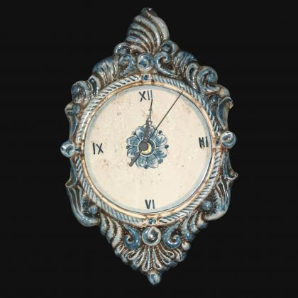 Orologio a rilievo 2°M h 40 mono blu in Ceramica artistica di Caltagirone