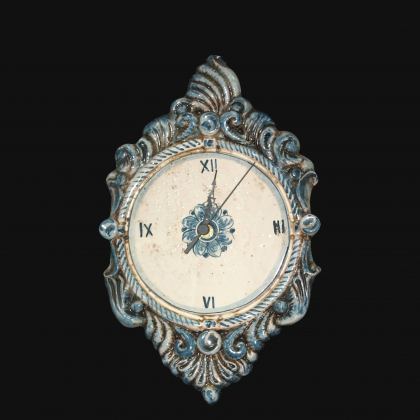 Orologio a rilievo 1°M h 35 mono blu in Ceramica artistica di Caltagirone