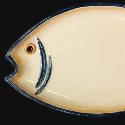 Svuota tasche pesce 30x15 blu e arancio