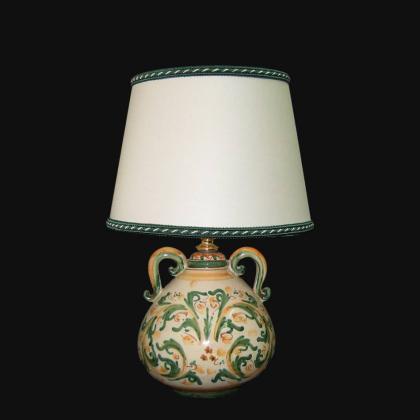 Ornamental light h 30 cm handmade vase