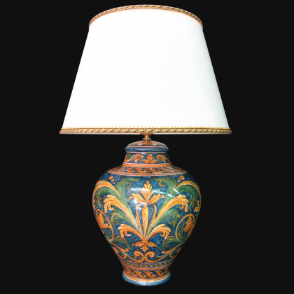 Ornamental light in ceramics of Caltagirone - Made in Italy