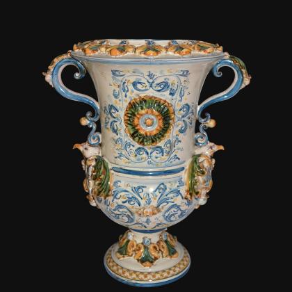 Vaso aquila h 35/50 plastico Sofia tricolore - Ceramiche di Caltagirone Sofia