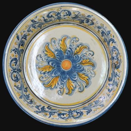 Fangotto da parete in serie d'arte Blu e Arancio