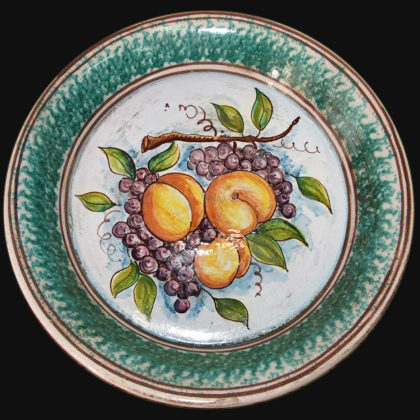 Fangotto da parete con uva e pesche