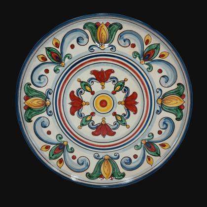 Ornamental plate Ø 35/45 Sicily decor of Caltagirone