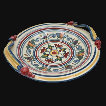 Centrotavola Ø 30/40 Decoro Sicily in ceramica artistica di Caltagirone