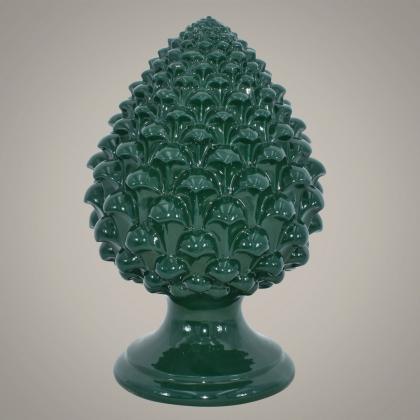Pigna semilavorata altezza 15/35 Verde Bottiglia