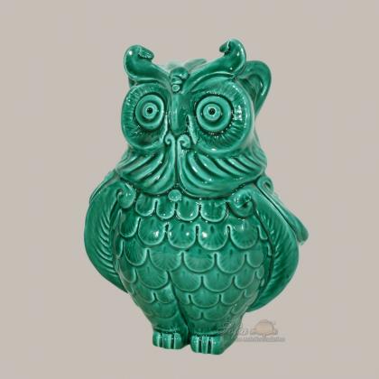 Owl in ceramics of Caltagirone - Artistic ceramics Sofia
