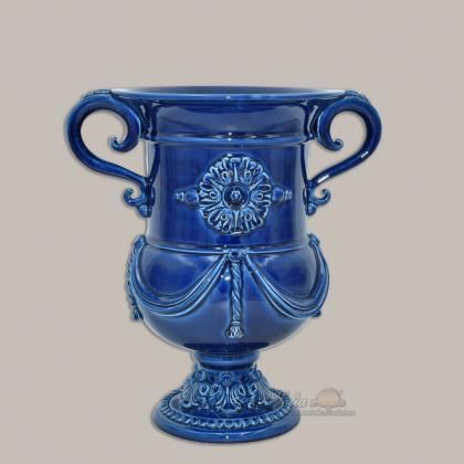 Monumental vase h 31 Deep Blue