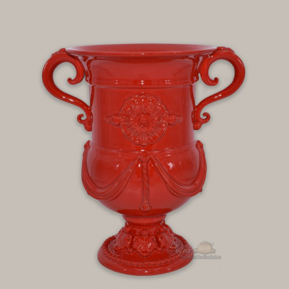 Monumental vase h 31 fire red - Linea Moderna Ceramiche Sofia