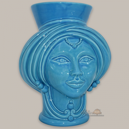 Modern head h 25 turchese woman - Modern Moorish heads Sofia Ceramiche