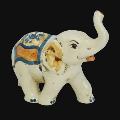 Elefante in ceramica s. arte blu/arancio - Ceramiche di Caltagirone Sofia