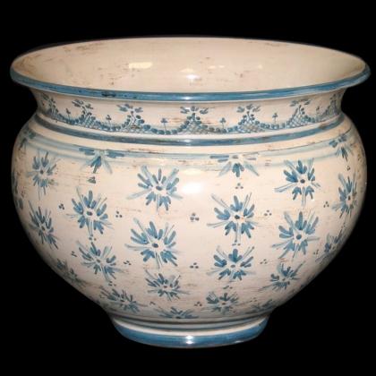 Cachepot linea stars mono blu - Ceramiche di Caltagirone Sofia