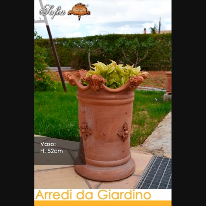 Torre portaombrello h 50 in terracotta Arredi per Giardino