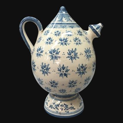 Bummulu Malandrinu h 25 linea stars mono blu in ceramica artistica