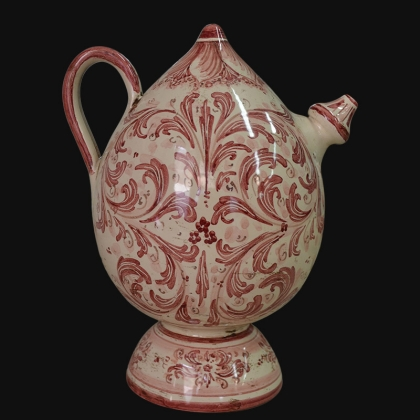 Bummulu Malandrinu h 25 s. d'arte mono bordeaux in ceramica artistica