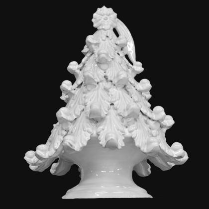 Albero di natale in ceramica white line