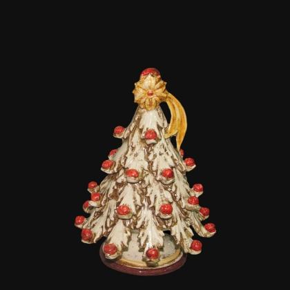 Piatto ornamentale Ornato Bordeaux in ceramica artigianale di Caltagirone.