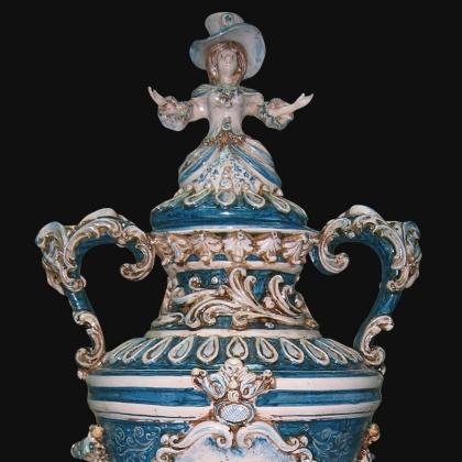 Vaso monumentale prosa in serie limitata mono blu