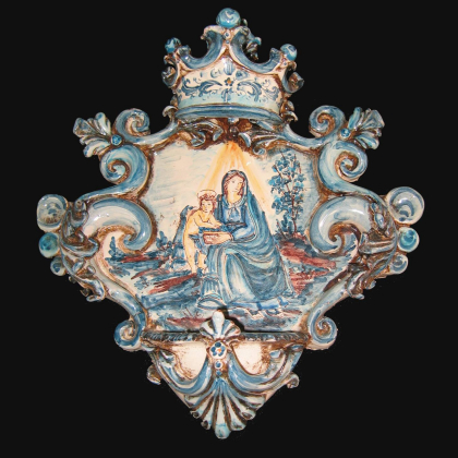 Ceramic Vase handmade products. Artistic ceramics of Caltagirone