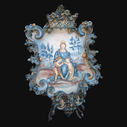 Ornamental light in ceramics of Caltagirone - Artistic ceramics Sofia