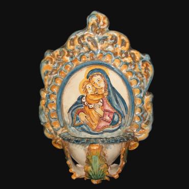 Porta Ombrello in ceramica artistica di Caltagirone