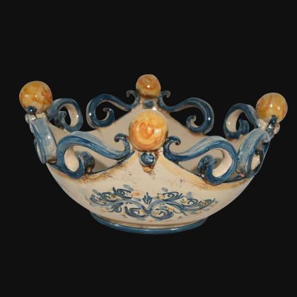 Centrotavola pallina s. d'arte blu/arancio Ø 25 cm / Ø 30 cm
