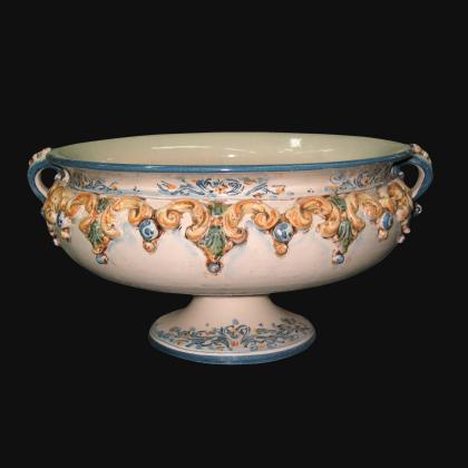 Testa di Moro in Monocromia in ceramica artigianale di Caltagirone.