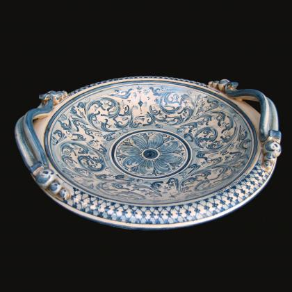 Centrotavola Serie d'arte in monocromia di Blu - Ceramiche artistiche di Caltagirone