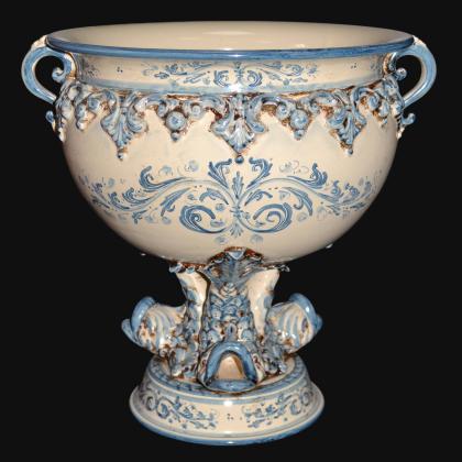 Confettiera piede marino 32x33 plastico sofia tricolore - Ceramiche artistiche Sofia di Caltagirone