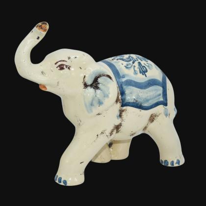 Elefante in ceramica s. arte mono blu - Ceramiche di Caltagirone Sofia