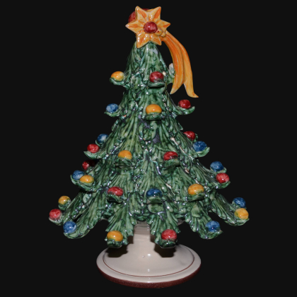 Christmas tree in artistic ceramic of Caltagirone, Italian Pottery Made in Italy