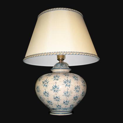Ornamental lamp in ceramics of Caltagirone - Artistic Ceramics Made in Italy