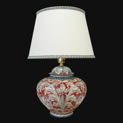 Ornamental lamp in ceramics of Caltagirone - Artistic Ceramics Made in Italy