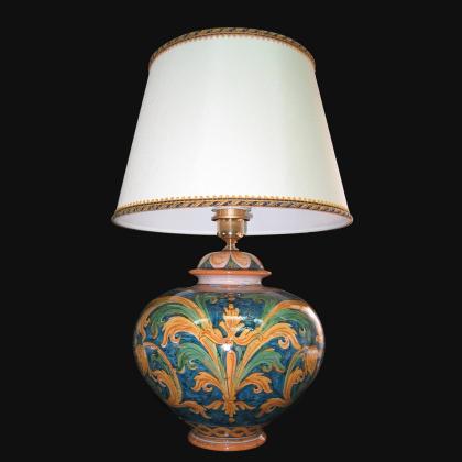 Lume palla ornamentale ornato calatino - Ceramica di Caltagirone Sofia