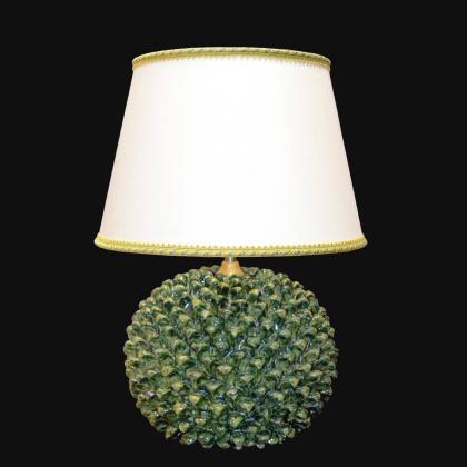 Lume palla a pigna h 60 mono verde - Ceramiche Di Caltagirone Sofia
