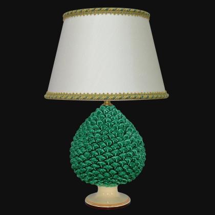 Ornamental pine cone light in ceramics of Caltagirone - Artistic ceramics Sofia